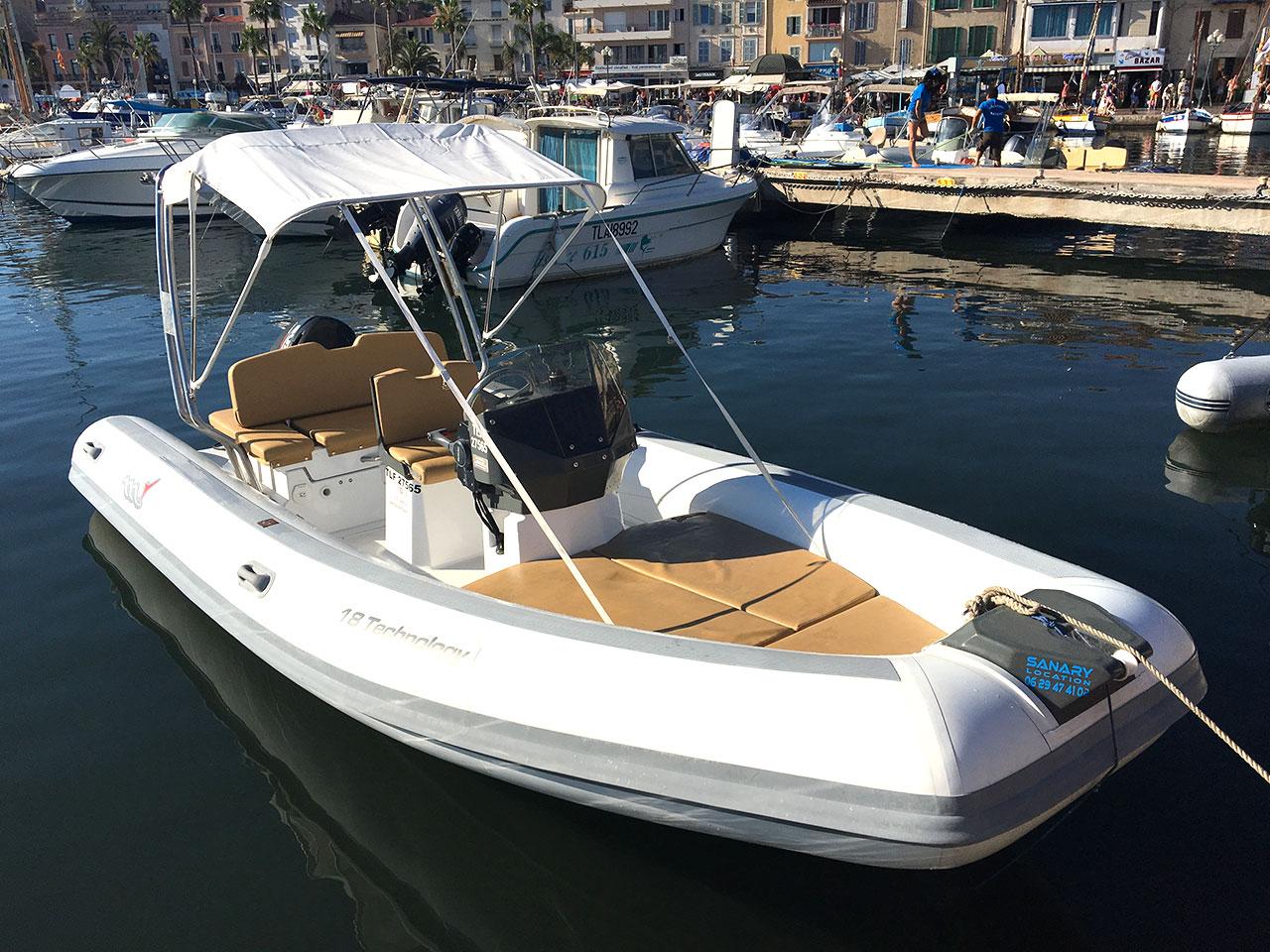 Location bateau Sanary Six-Fours Les Embiez